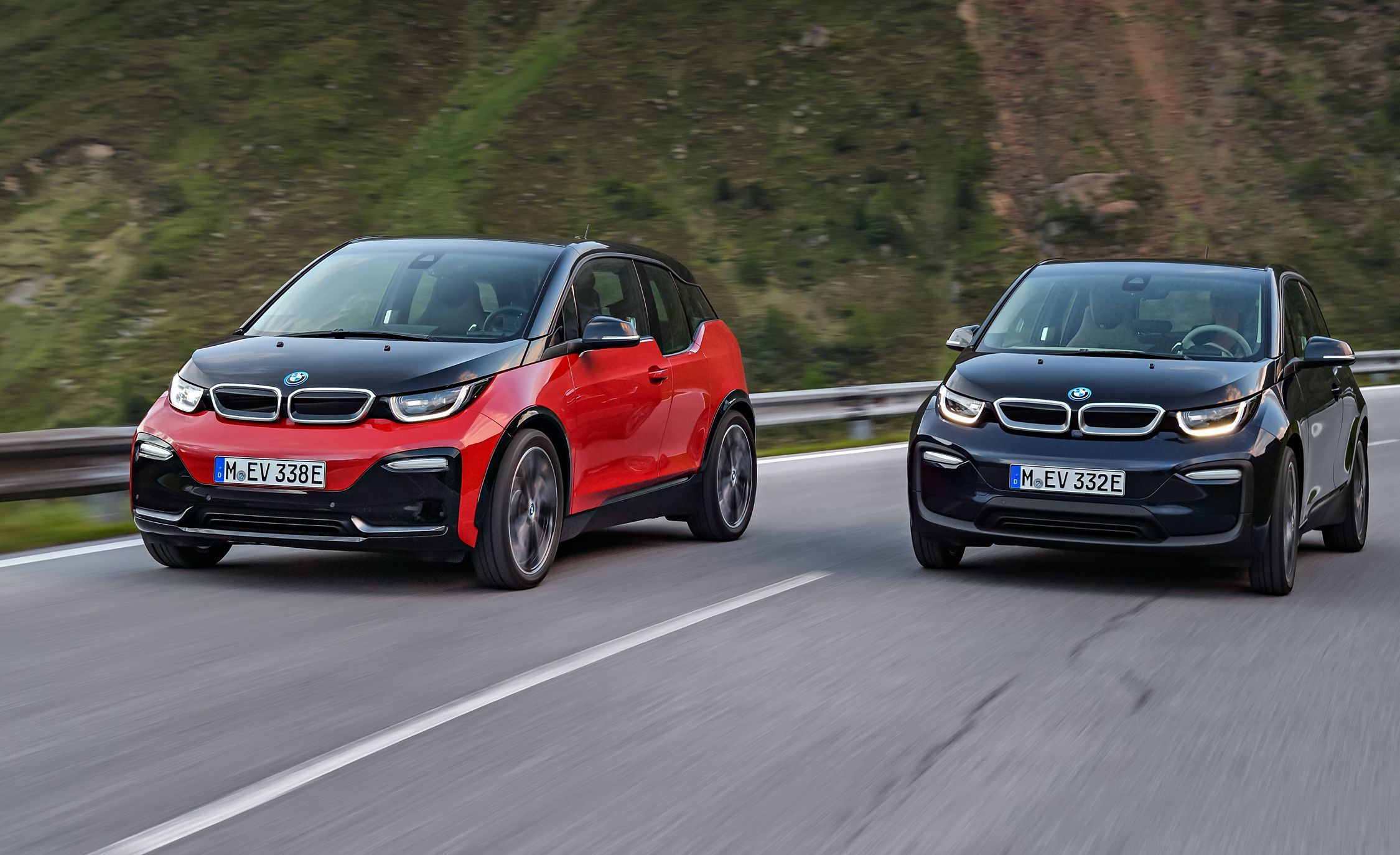 Both BMW i3 and i8 use carbon-fiber reinforced plastic that makes them light and easy to manage.