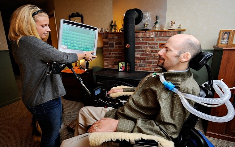 A man with ALS has become an advocate for the ALS community at large.