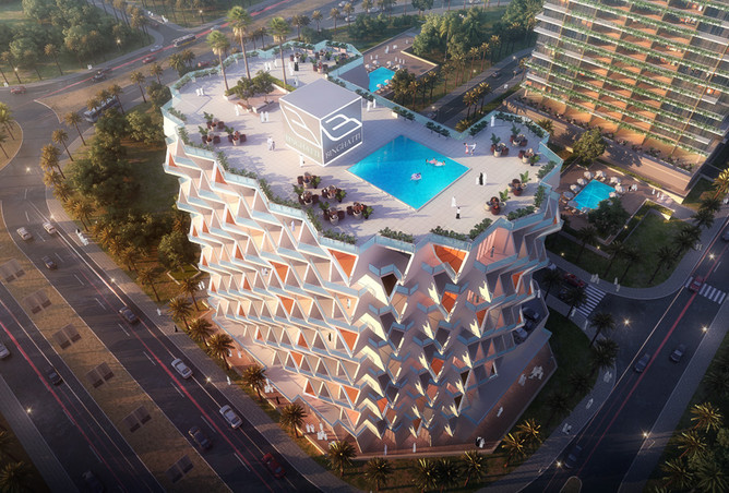 A 456-square foot studio apartment will be available in August 2016 in Binghatti Views.