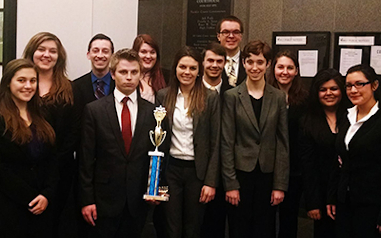 North Central College has advanced to the opening round championship series of the American Mock Trial Association.