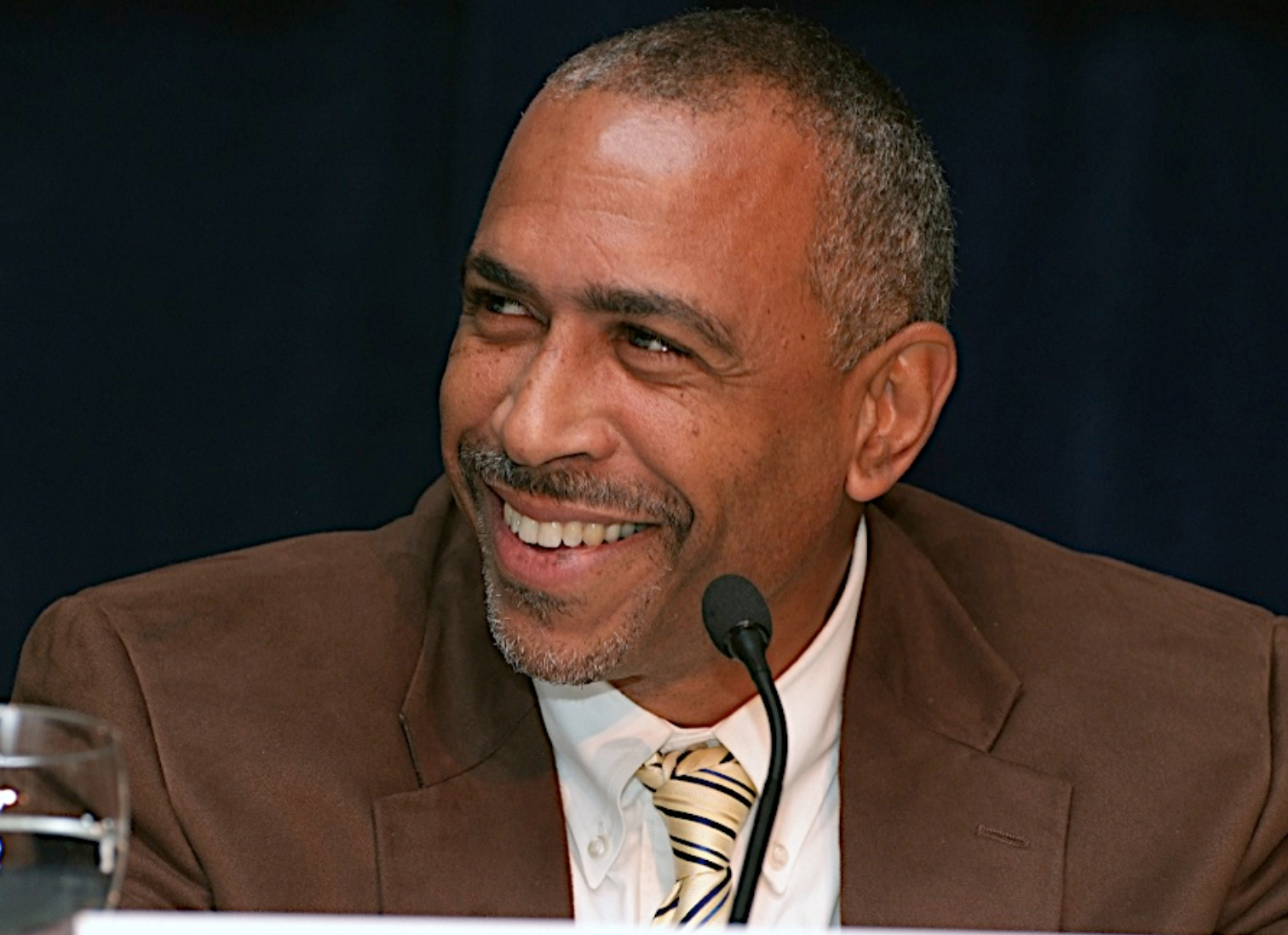 Pedro Noguera supports lowering academic and discipline standards for black and hispanic students in public schools. He's lecturing in Highland Park on Monday, April 17