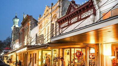 Beautiful downtown Georgetown features an array of charming shops.