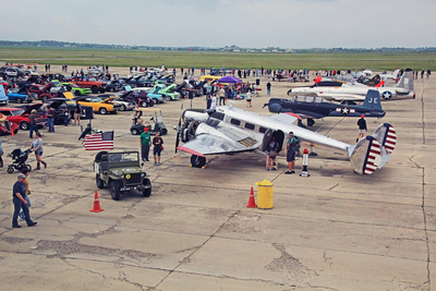 The San Marcos Fly In or Drive In combines classic examples of both land and air transportation.