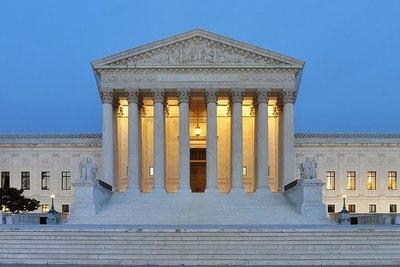 Medium 1000px panorama of united states supreme court building at dusk
