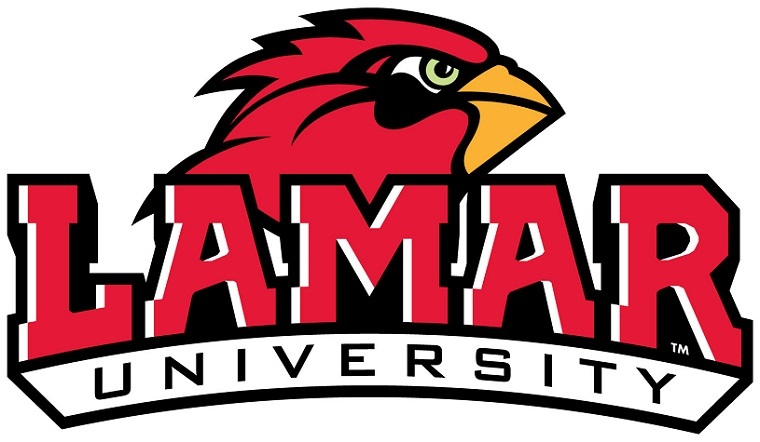 Lamar University's logo features the design that was created by alumnus Michael Lee.