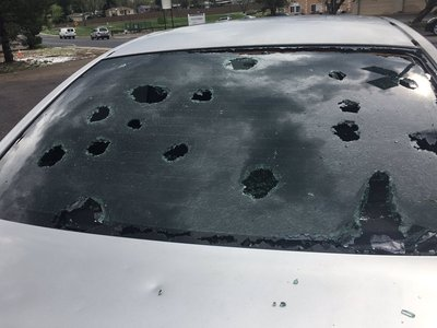 Hail can even shatter windshields in severe storms.