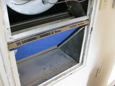 Changing the air filter is just as imprtant for heaters as it is for air conditioners.