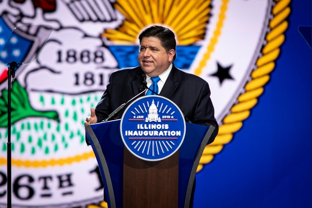 Illinois Gov. J.B. Pritzker at his inauguration earlier this month