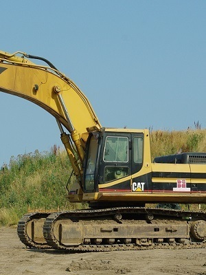 Large caterpillar 330b hydraulic excavator