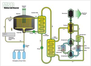 Molten salt reactor illustration