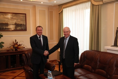 On October 7, 2014 Mr.Vladimir Makei, Minister of Foreign Affairs of Belarus, Chairman of the CIS Foreign Ministers' Council had a working meeting with the Chairman of the Executive Committee  — CIS Executive Secretary Mr.Sergei Lebedev.
