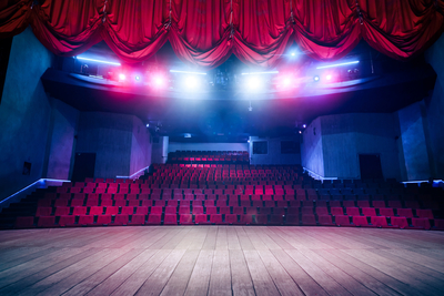 Medium shutterstock theatre curtains colorful lighting