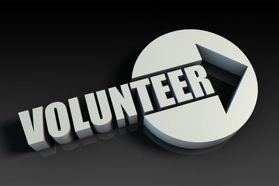 Medium volunteer sign