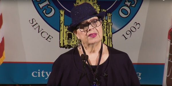Chicago Teachers Union President Karen Lewis during a recent City Club of Chicago appearance