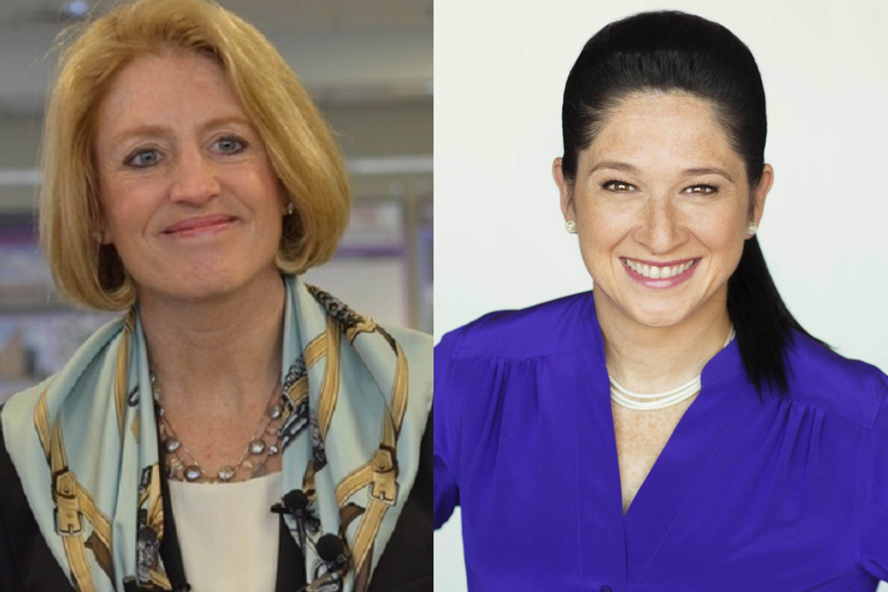 Illinois Comptroller Leslie Munger (left) and opponent Susana Mendoza (right).