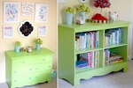 Don't ditch a dresser for want of a drawer; visit a hardware store, purchase paint and convert to a cabinet.