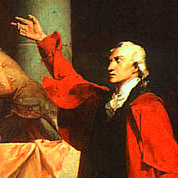 A painting of Patrick Henry from 1775.