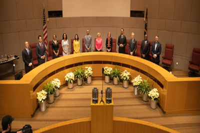 Medium council swear in