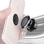 This magnetic cell phone holder attaches easily to any car's AC vent.