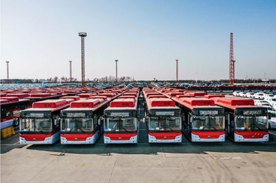 China delivered 100 electric buses to the Port of San Antonio last month.