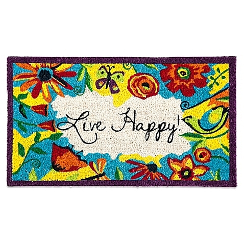 Live Happy Coir Mat available from Bed Bath and Beyond