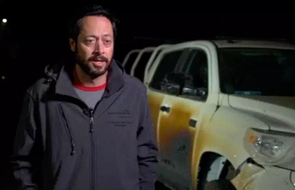 Allyn Pierce drove his Toyota Tundra through a California wildfire to save many lives.