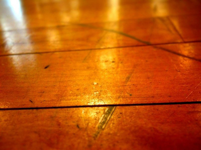 Hardwood floors are elegant, but they are subject to scratches.