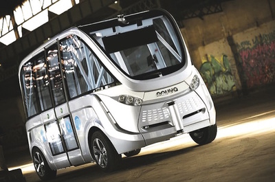 Autonomous vehicles such as this France-built Navya Arma van are indeed coming, but the tradeoff for safety and efficiency is anything resembling driving excitement.