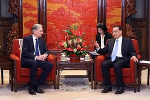 U.K. Foreign Secretary, Philip Hammond and Premier Li Keqiang meet in Beijing.