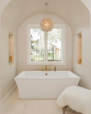 Luxurious as much as it is comfy, this bath is sure to please.