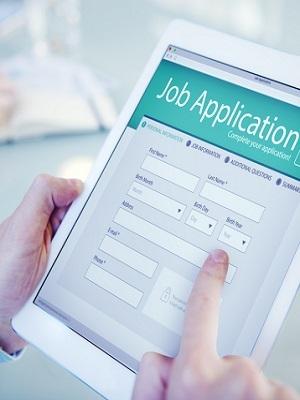 Job app tablet
