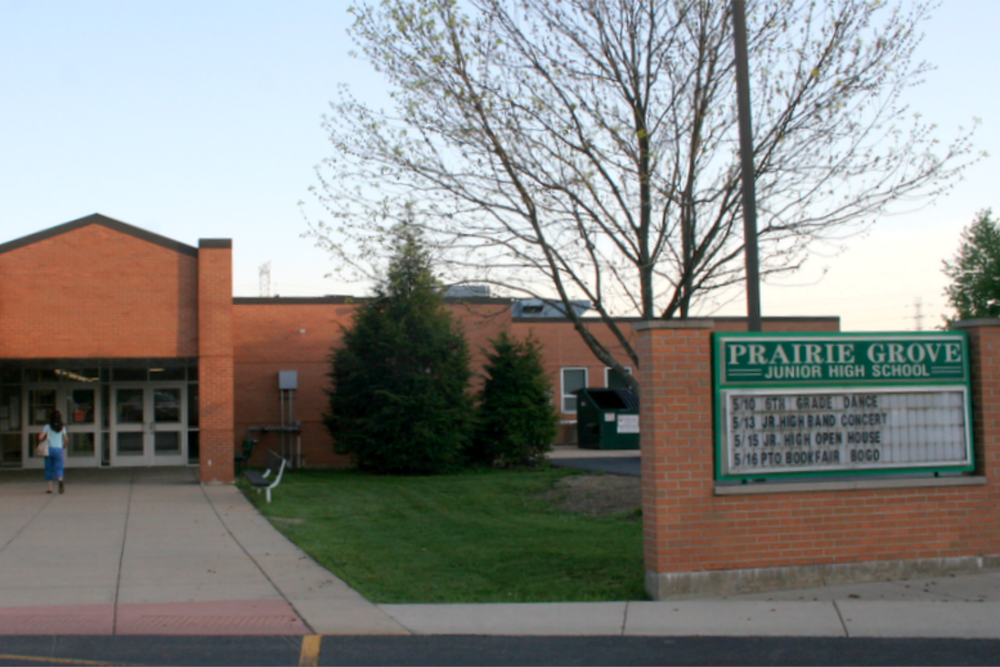 Prairie Grove Junior High School is part of the Prairie Grove CSD 46 (Crystal Lake) school district, which is projected to experience the second largest decrease in state funding in McHenry County under SB1.