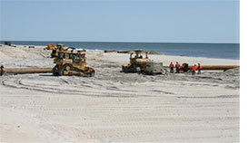 New Jersey and the Army Corps of Engineers have resumed work on Long Beach Island storm-protection projects.