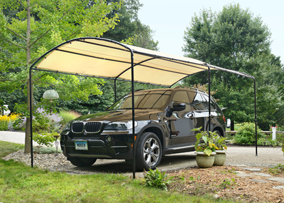 The ShelterLogic Monarc canopy provides a quick solution when a little shelter is needed.