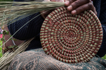 Weaving intricate and artistic baskets are a source of revenue for many in developing counttries, and they make exquisite art for the home.