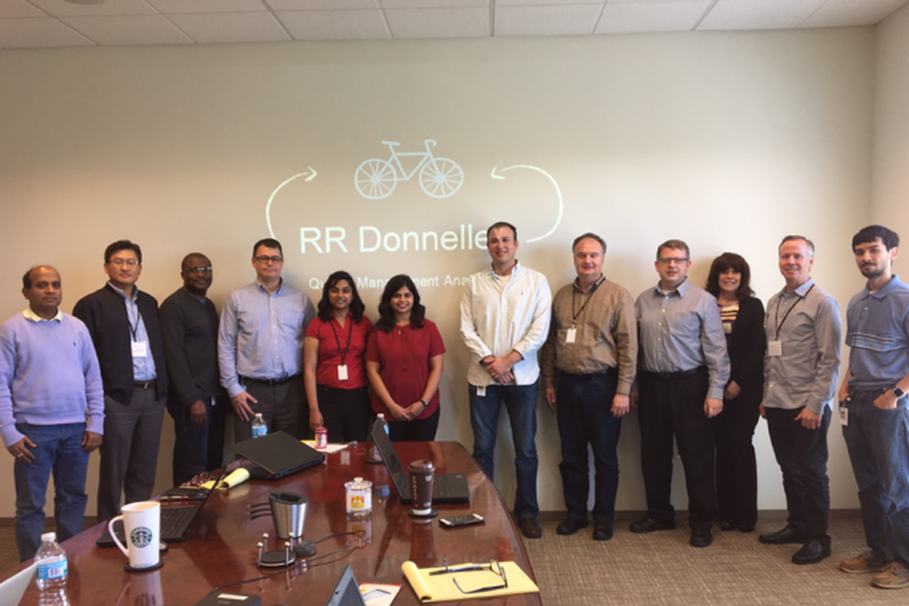 Illinois State University grad students wrap up research internship project with RR Donnelley