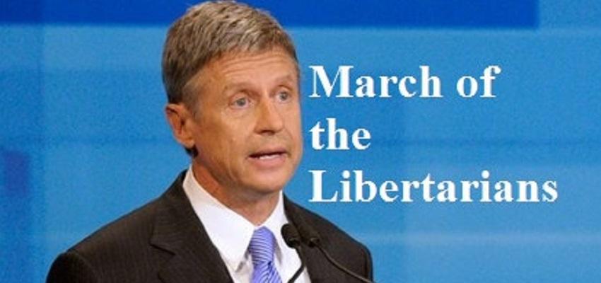 Libertarian candidate Gary Johnson
