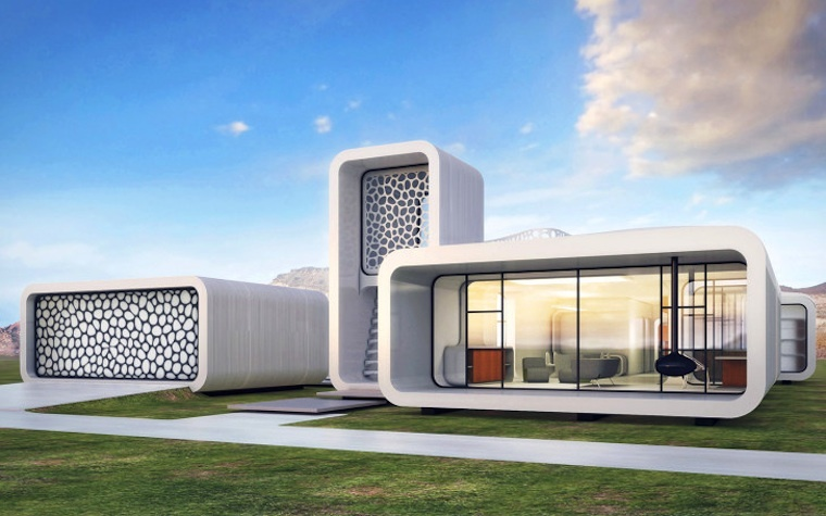 Plans for the world's first 3D-printed office, which is to be built in Dubai.