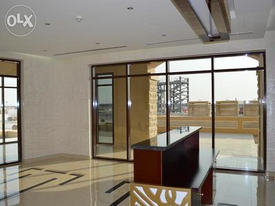 Living space in an available unfurnished apartment in Lusail City