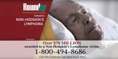The Goldwater Law Firm is among the biggest investors in TV advertising for Roundup clients