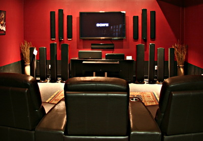 A home-theater system can bring silver-screen ambiance into the home.