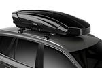 Thule's cargo box is optimized for both space and aerodynamics.