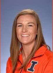 Illinois infielder Annie Fleming