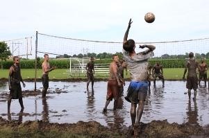 Medium mud volleyball