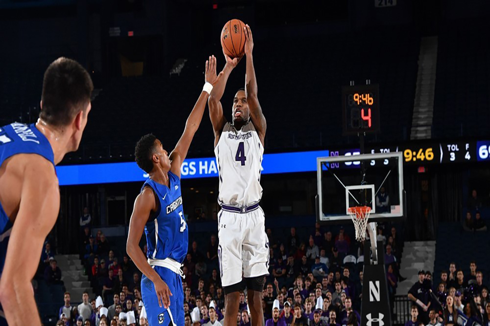 NU's Vic Law puts up a shot during a game this season.