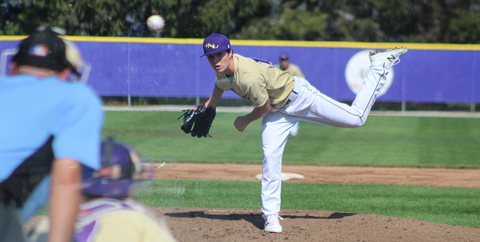 ONU's Mason Sherrill pitches during a recent game.