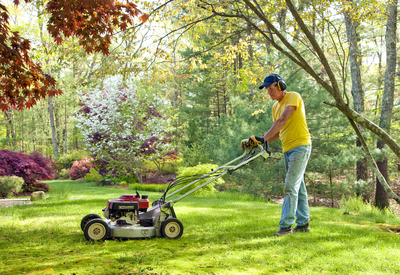 If you don't bag cut grass, proper mulch management necessary.