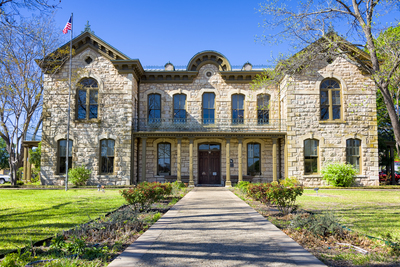 Fredericksburg features a number of historical buildings, including Pioneer Memorial Library.
