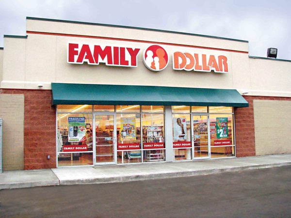 Large 2 family dollar standingstore