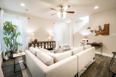 The thoughtfully designed townhomes by Jimmy Jacobs in Old Mill Crossing are priced from $209,900.